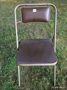 Lori Miller Designs - before folding chair