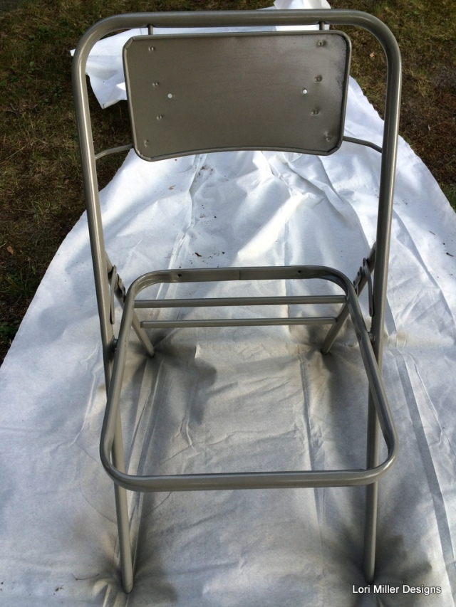 Lori Miller Designs painting the folding chair