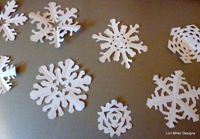snowflake garland - lori miller designs