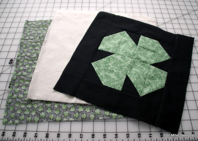 quilt shamrock Lori Miller Designs