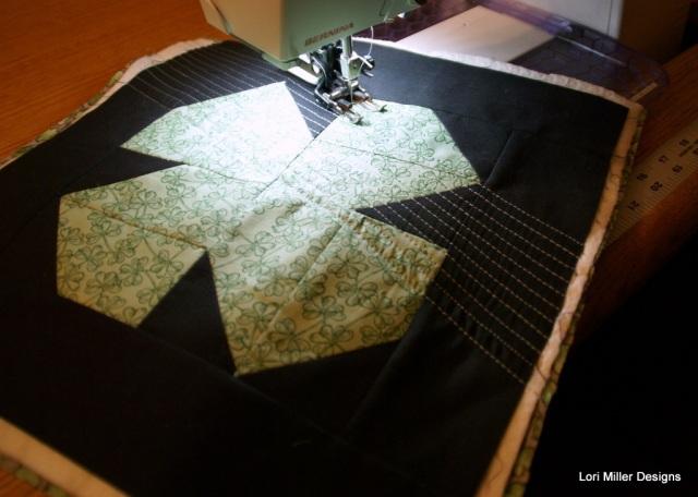 shamrock quilting Lori Miller Designs