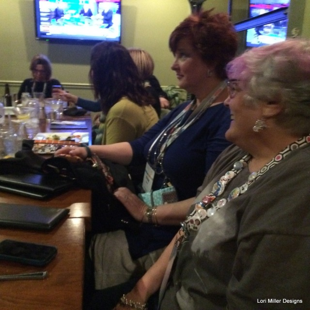 Donna A, Whatsonemoreproject, HouseofDuke, and Sewtogether Phyllis at dinner