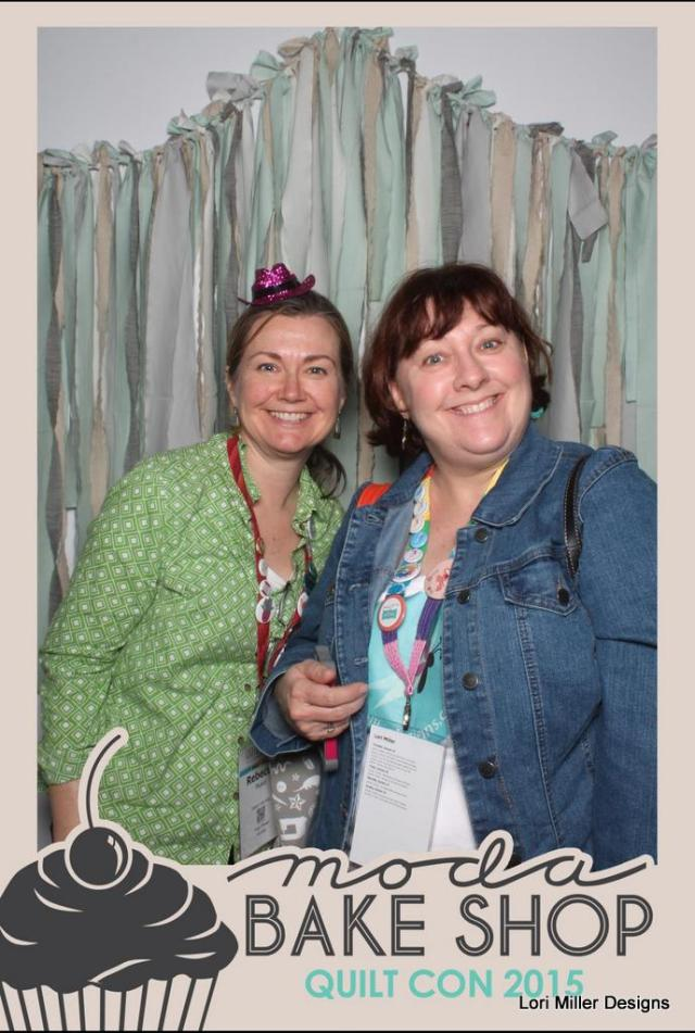 RubyThreads and I goofing off in the Moda Photo Booth
