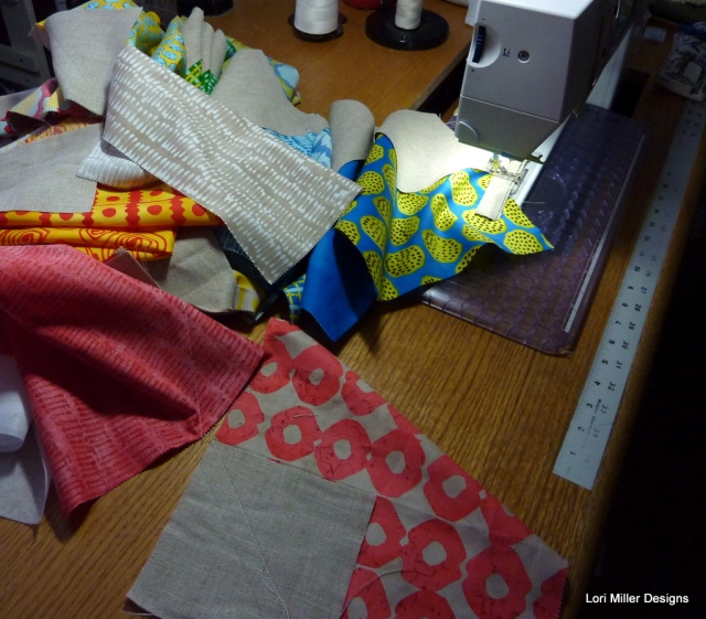 String piecing Lori Miller Designs