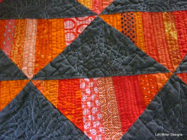 Sunburst strip piecing Lori Miller Designs