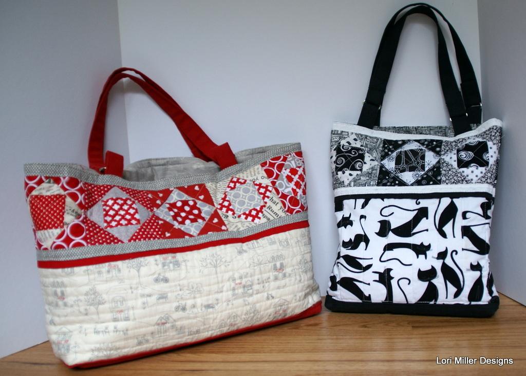 new pattern cedar lake tote bag lori miller designs. Black Bedroom Furniture Sets. Home Design Ideas