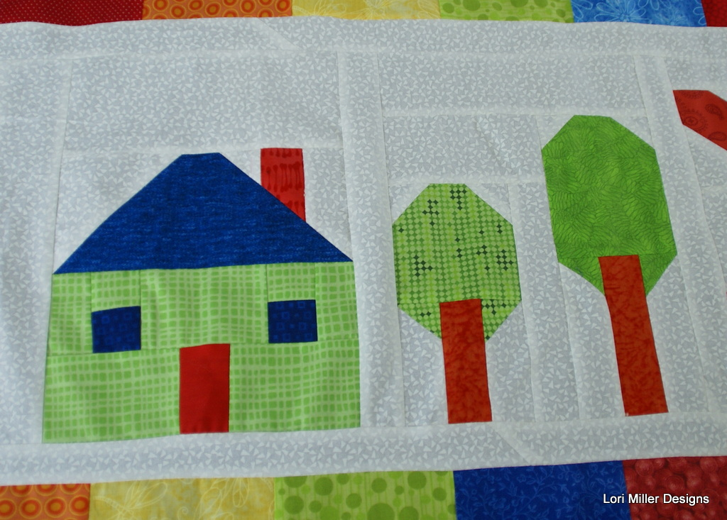 Grandma town bom 9 home sweet home double quilt block for House pattern