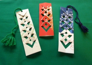 upcycled bookmarks by lori Miller Designs