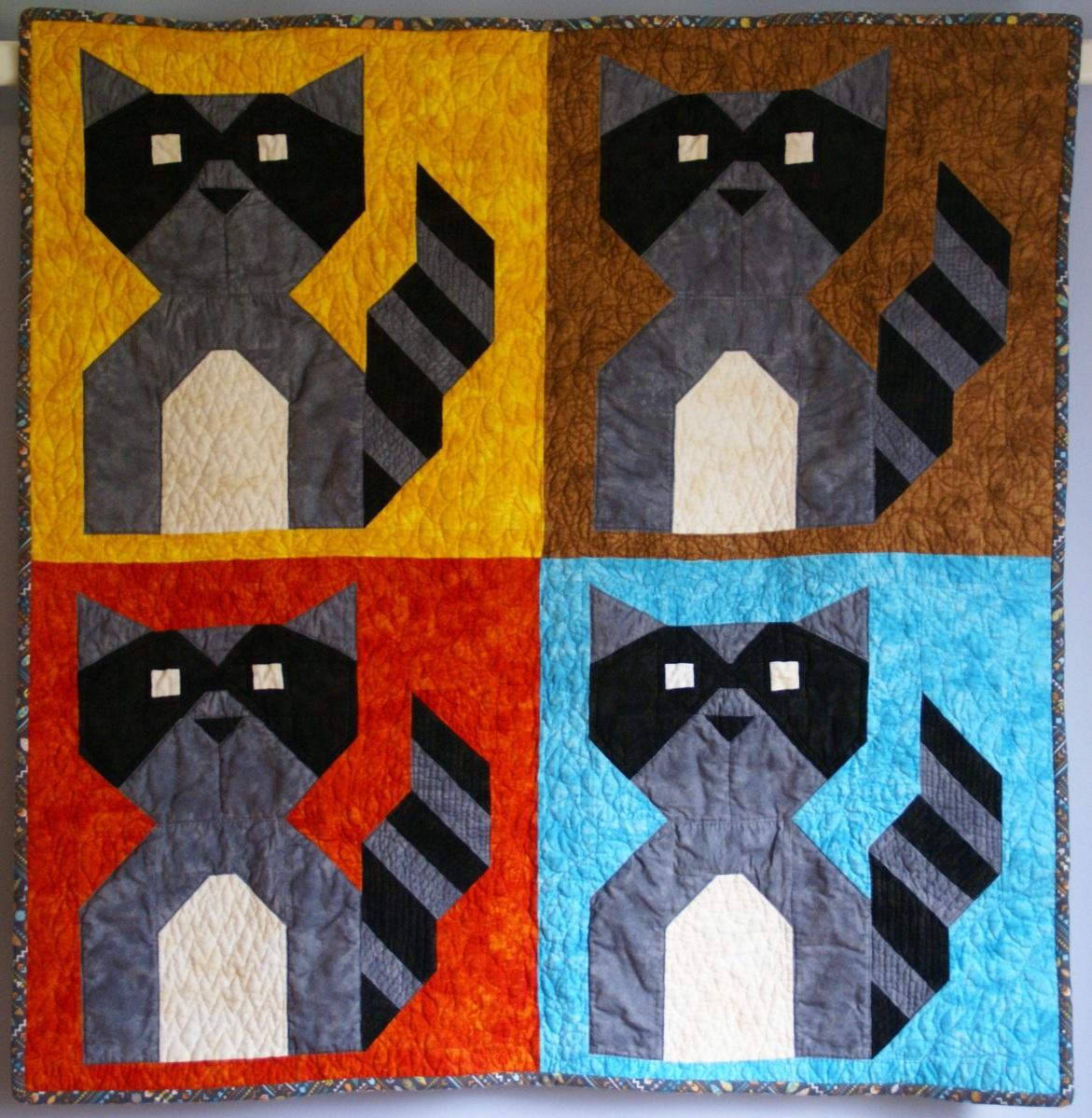 Published – Baby Raccoon Bandit Quilt | Lori Miller Designs