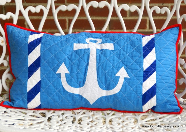 Free tutorial u2013 shipmates bench pillow lori miller designs